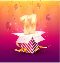 11 years anniversary design element vector