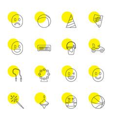 16 fun icons vector