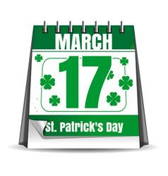 17 march st patricks day calendar vector image