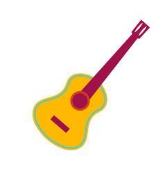 acoustic guitar flat vector image