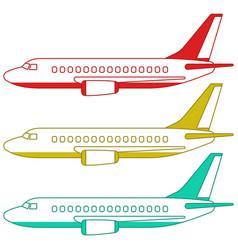 Aeroplanes side view vector