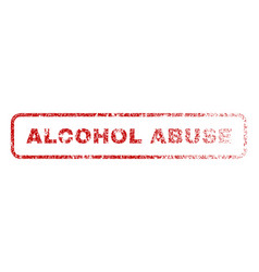 alcohol abuse rubber stamp vector image