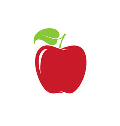 apple red fruit on white background vector image