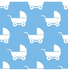 Baby carriage seamless pattern vector image