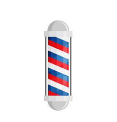 Barber shop poles with stripes isolated on white vector