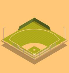 baseball field isometric composition vector image