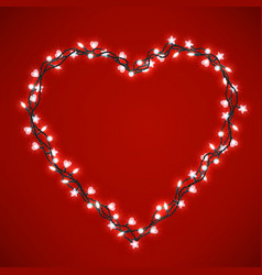 beautiful bright heart vector image