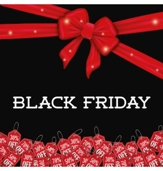 Black friday shopping season vector image