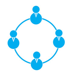 business teamwork icon on transparent background vector image