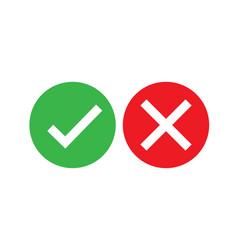 Check cross mark design for any purposes ok vector