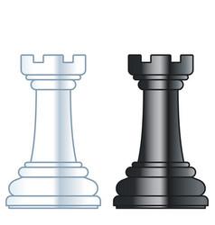 Chess rooks vector