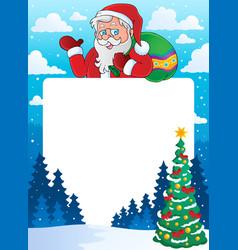 christmas theme frame 6 vector image