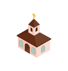 Church isometric 3d icon vector