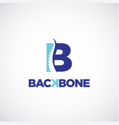 Clean b initial letter chiropractic logo vector