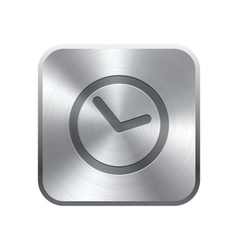 Clock icon button vector image