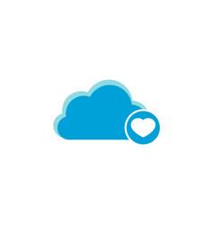 cloud computing icon heart icon vector image