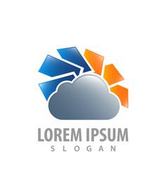 Cloud tech stylish concept design symbol graphic vector