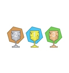 Collection of flat icons symbol with Cup for vector image