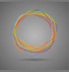 Composition of glowing abstract blend circle vector