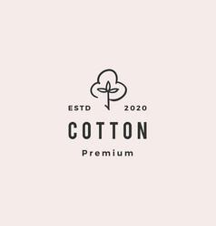 Cotton logo hipster retro vintage icon download vector