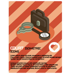 court color isometric poster vector image