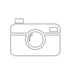 digital photo camera sign black dotted vector image