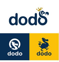 Dodo bird logo icons vector