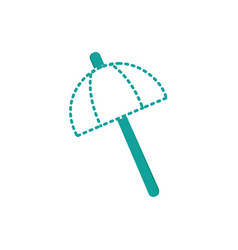 dotted shape umbrella open style to weather vector image