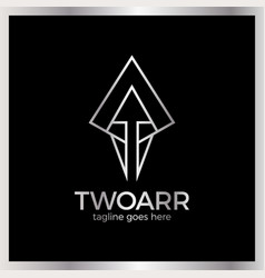 double arrow logo vector image