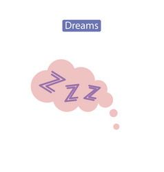Dreams flat icon vector