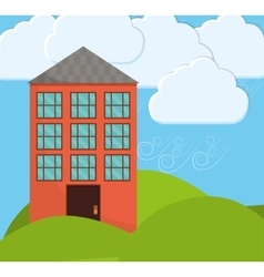 Family House Home icon landscape vector image