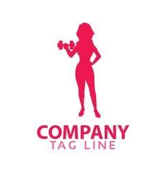 Female Fitness Logo vector