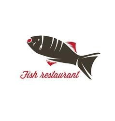 Fish restaurant design template vector