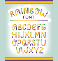 funny colorful alphabet letters font style vector image