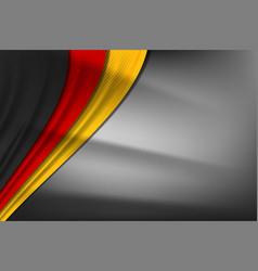 German curve flag design vector
