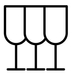 Glasses line icon stemware vector