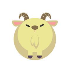Goat flat vector