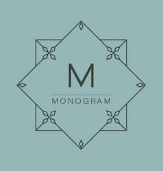 Graceful monogram design vector