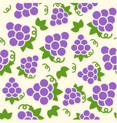 grape seamless pattern for wallpaper or wrapping vector image