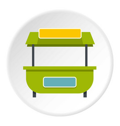 Green street kiosk icon circle vector