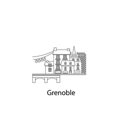 grenoble city icon in lines vector image