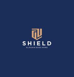 gu or gp letter shield icon vector image