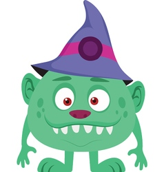 Halloween Wizard Icon vector image