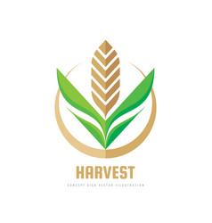 Harvest - concept business logo template vector