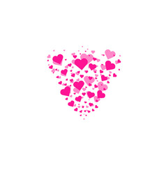 heart shapes background heart confetti burst vector image