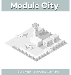 Isometric map city airport vector