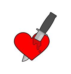 Knife in heart isolated kill love symbol vector