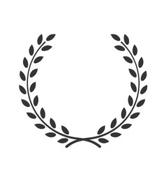 laurel wreath symbol victory achievement vector image