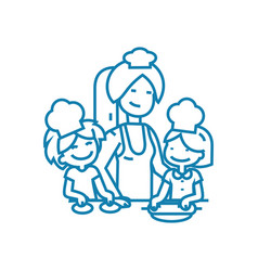 lessons with children linear icon concept lessons vector image