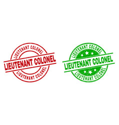Lieutenant colonel round watermarks with unclean vector